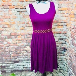 Dress sleeveless purple pullover stretch small